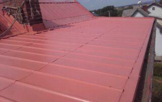 nátěr pelechové střechy domu